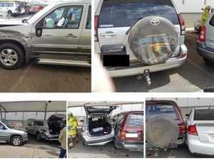 Police investigate five-vehicle traffic crash