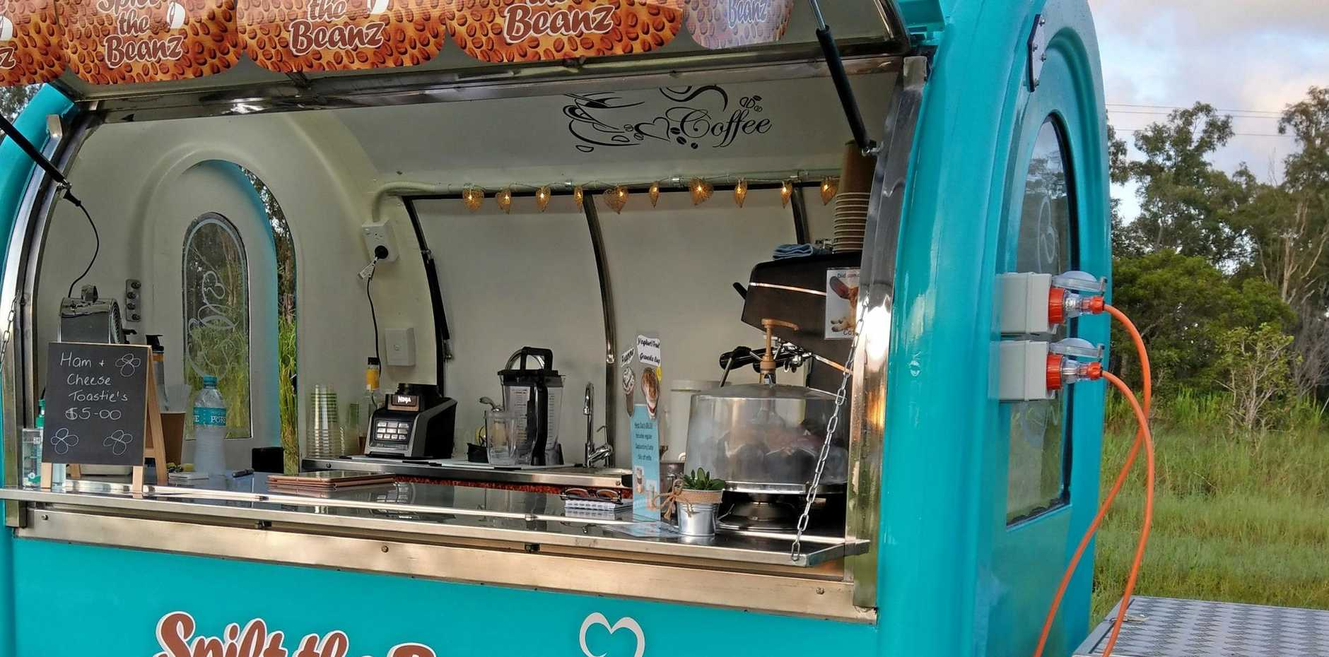 You can stop at Spilt the Beanz on Monday and Friday, from 5.30-9.30am to get your coffee fix before work.