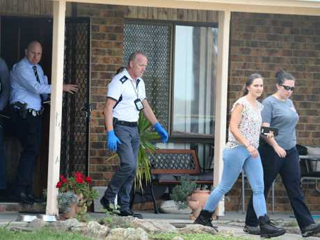The Lawrence home was one of two on the NSW mid-north coast raided by counter-terrorism police. Picture: Nathan Edwards