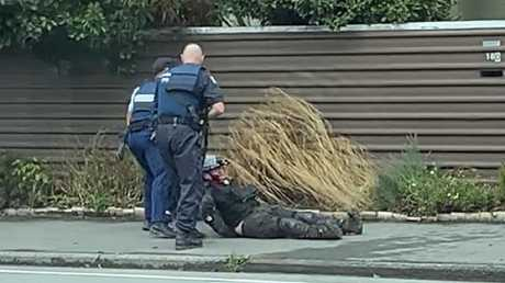 The moment the accused Christchurch gunman, Brenton Harrison Tarrant, was arrested by New Zealand Police officers.