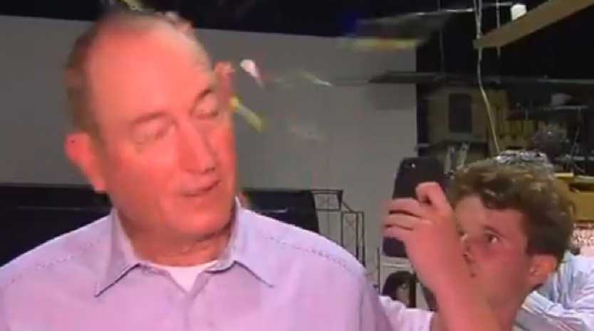 Fraser Anning is egged by 17-year-old Will Connolly #Eggboy.