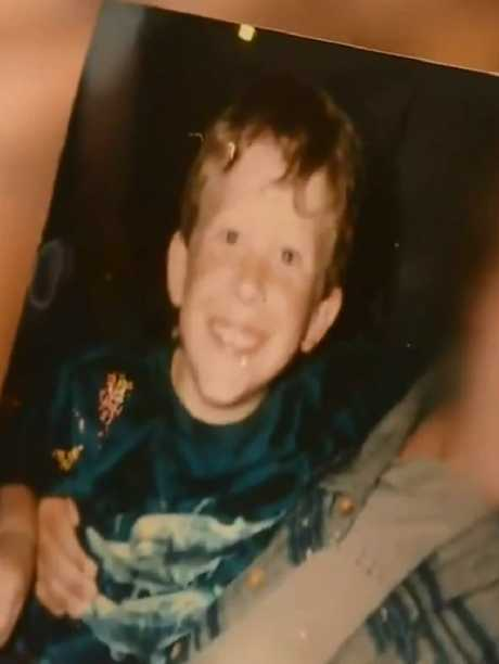 A young Tarrant. Picture: 9 News