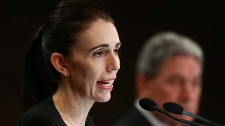 New Zealand Prime Minister Jacinda Ardern announces 'our gun laws will change' in a press conference following the terror attack on two Christchurch mosques. Picture: Hagen Hopkins/Getty Images