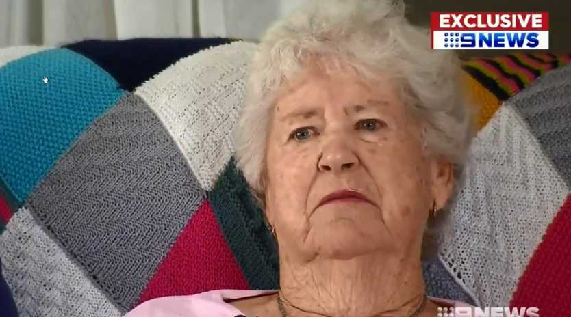 Tarrant's grandmother Marie Fitzgerald in an interview with Channel 9 about her son. Picture: 9News