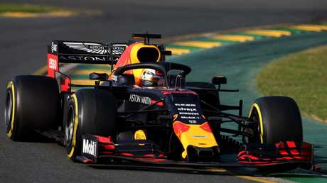 Max Verstappen steered his Red Bull car to third.