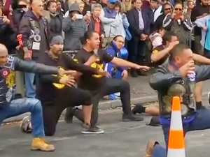 Emotional haka outside attacked mosque