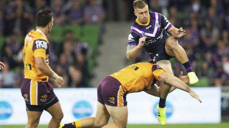 Matt Lodge paid the price for taking out Cameron Munster. Image: AAP Image/Daniel Pockett