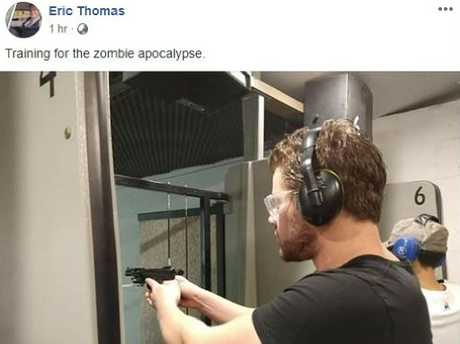Eric Thomas, formerly known as Gable Tostee, posted this picture of himself using a gun on social media.