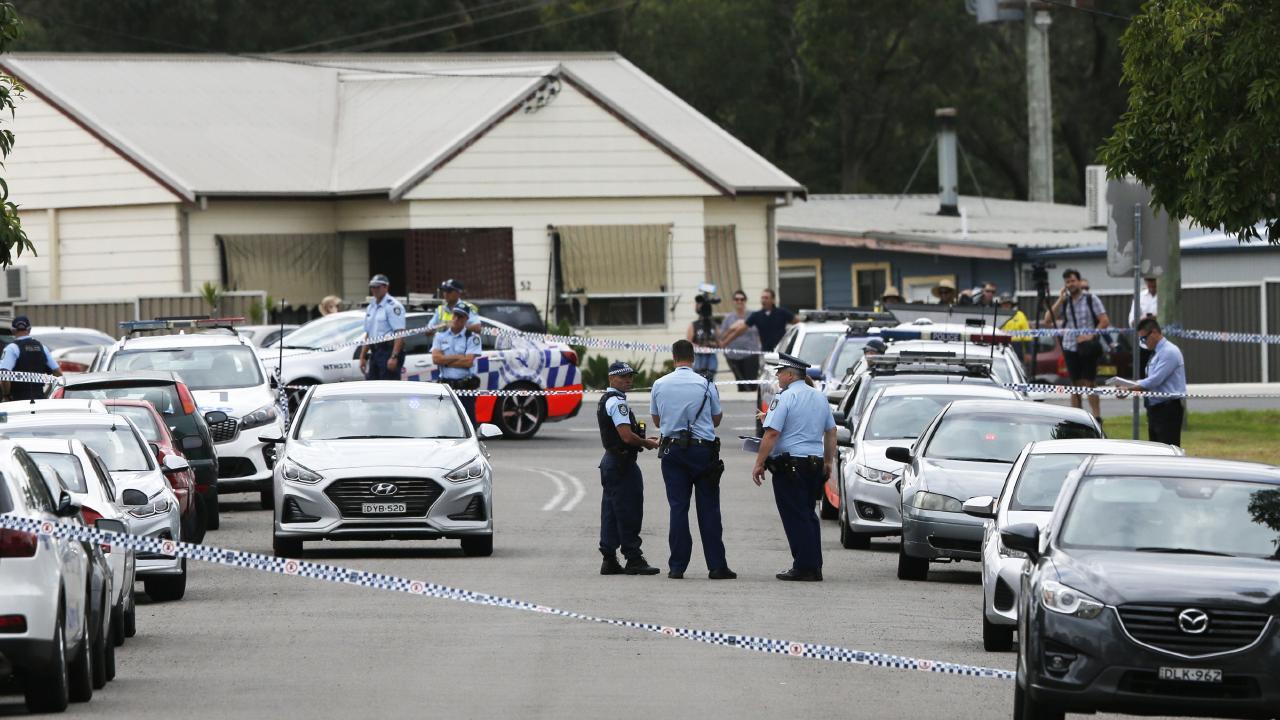 The scene where jealous Tafari Walton was shot dead by police. Picture: Peter Lorimer.