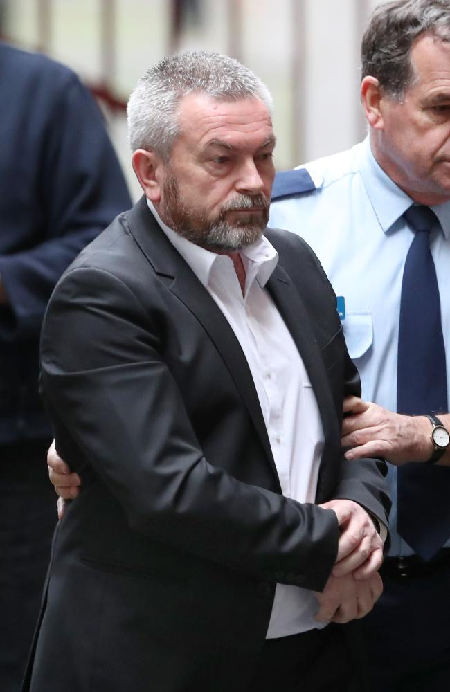 Borce Ristevski was arrested and later pleaded guilty to manslaughter over the death of his wife Karen. Picture: David Crosling