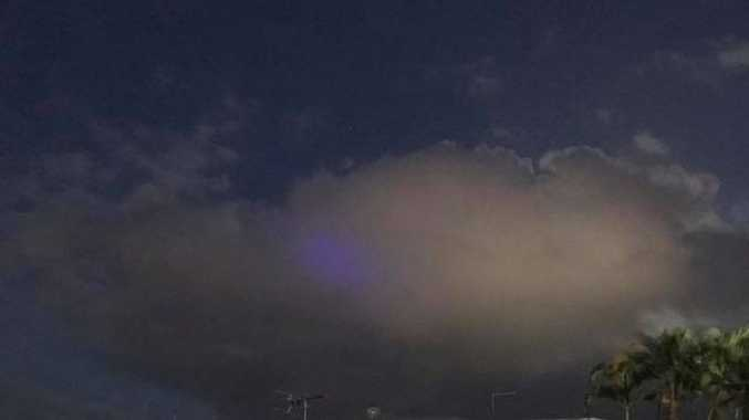 Purple light spotted over Cairns. PICTURE: KATIE WOOD
