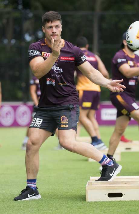 Kotoni Staggs would replace Roberts if he's unavailable for the clash. Picture: Lachie Millard