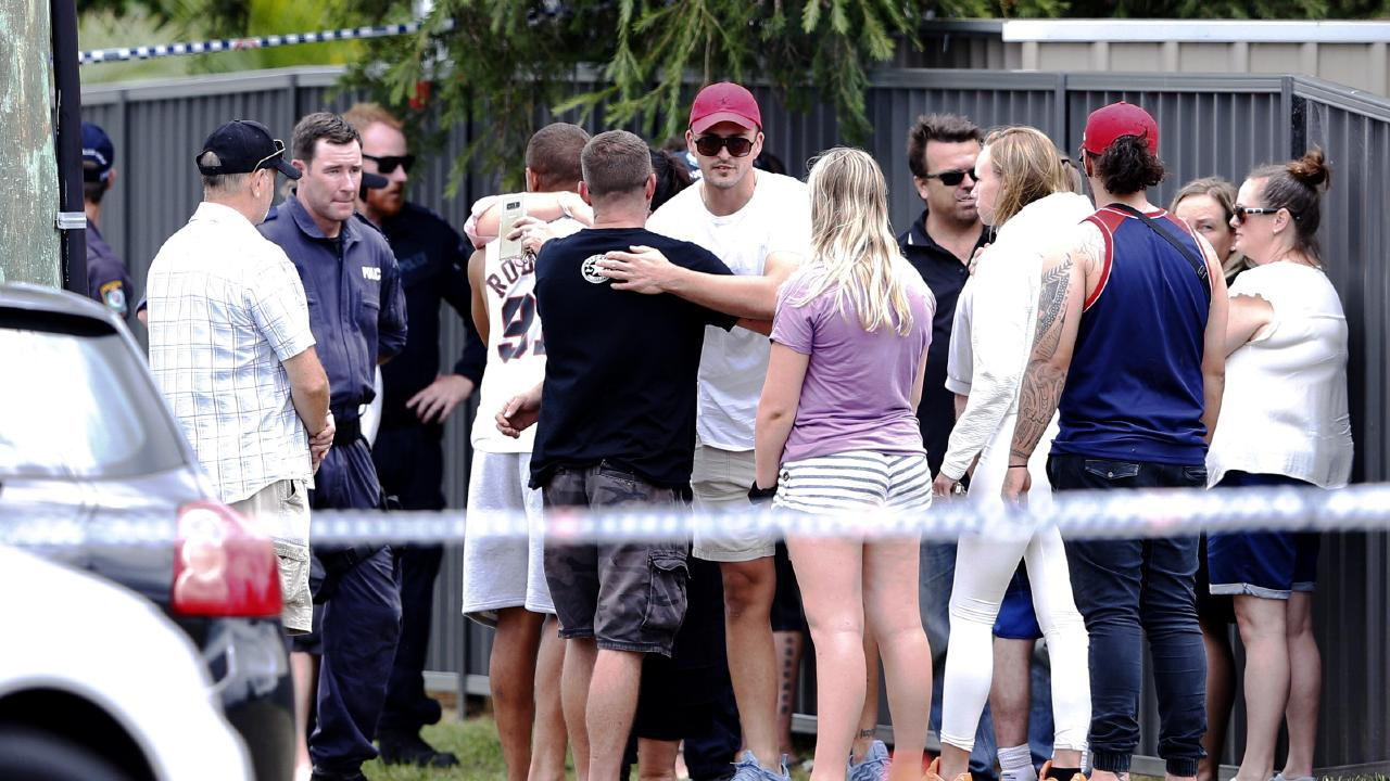 Emotional scenes after the tragedy in Glendale. Picture: Peter Lorimer.