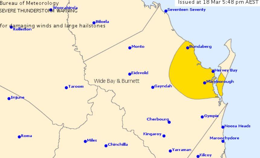 Severe Thunderstorm Warning For Bundy And Wide Bay Seniors News Satellite maps and street panoramas. severe thunderstorm warning for bundy and wide bay seniors news