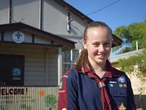 Chinchilla Scouts member Katie Fitzgerald attended