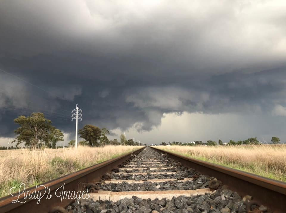 WINNING SHOT: Lindy William's photograph of a storm rolling in.
