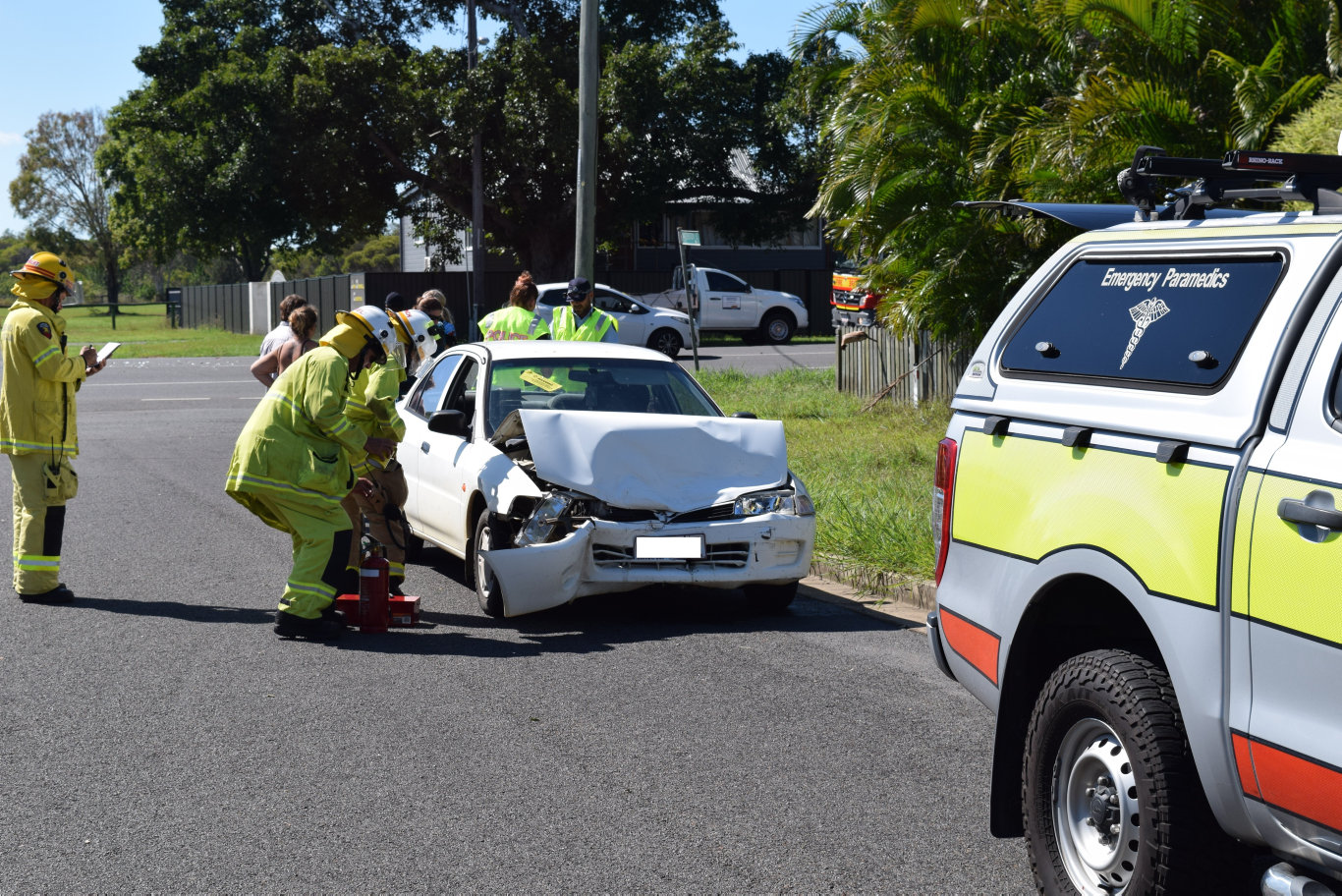 Emergency Services are on their way to the scene of a car crash in Maryborough.