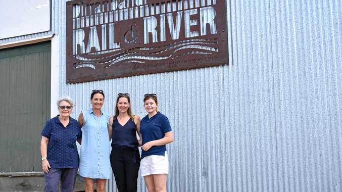 Barb McMillan, Karen Sullivan, Andrea Killen, Amber Stewart from Dirranbandi Progress Association at the River Rail precinct.