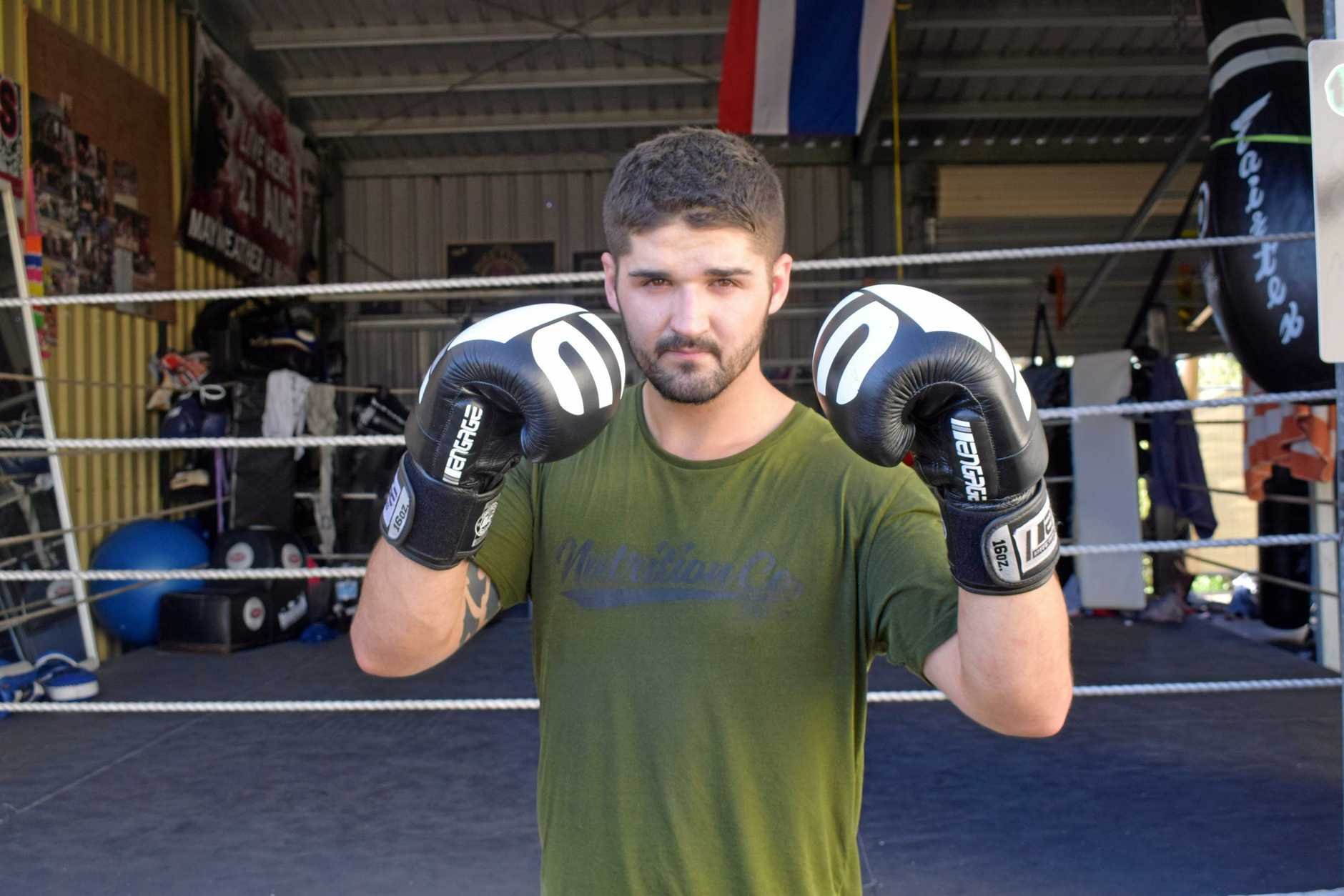 Jye Wyllie has been busy getting himself into shape ready to fight against an opponent from Townsville for the show in his hometown.