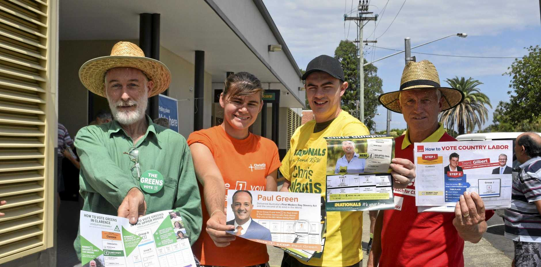 VOTE EARLY: Volunteers at Clarence Election Manager's Office in King St in Grafton with their important documents.