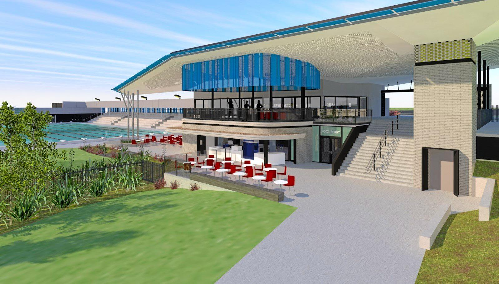 SWISH SWIMMING: An artist's impression of the impressive looking St Andrew's Anglican College aquatic centre, which is predicted to have a short-term impact on patronage at the Noosa Aquatic Centre.