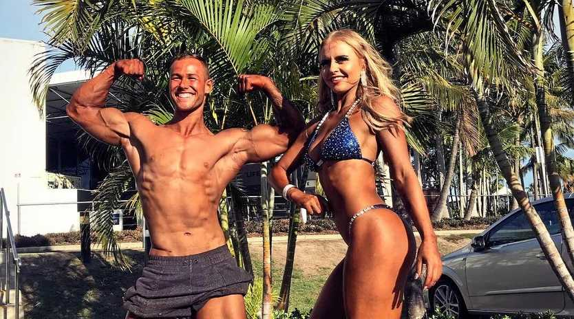 BUILT FOR BIG THINGS: Body building couple McKenzie Wenmoth and Ethan Sturgeon have taken the stage for the first time in the IFBB Queensland Qualifiers, but say it's all about achieving your personal best.