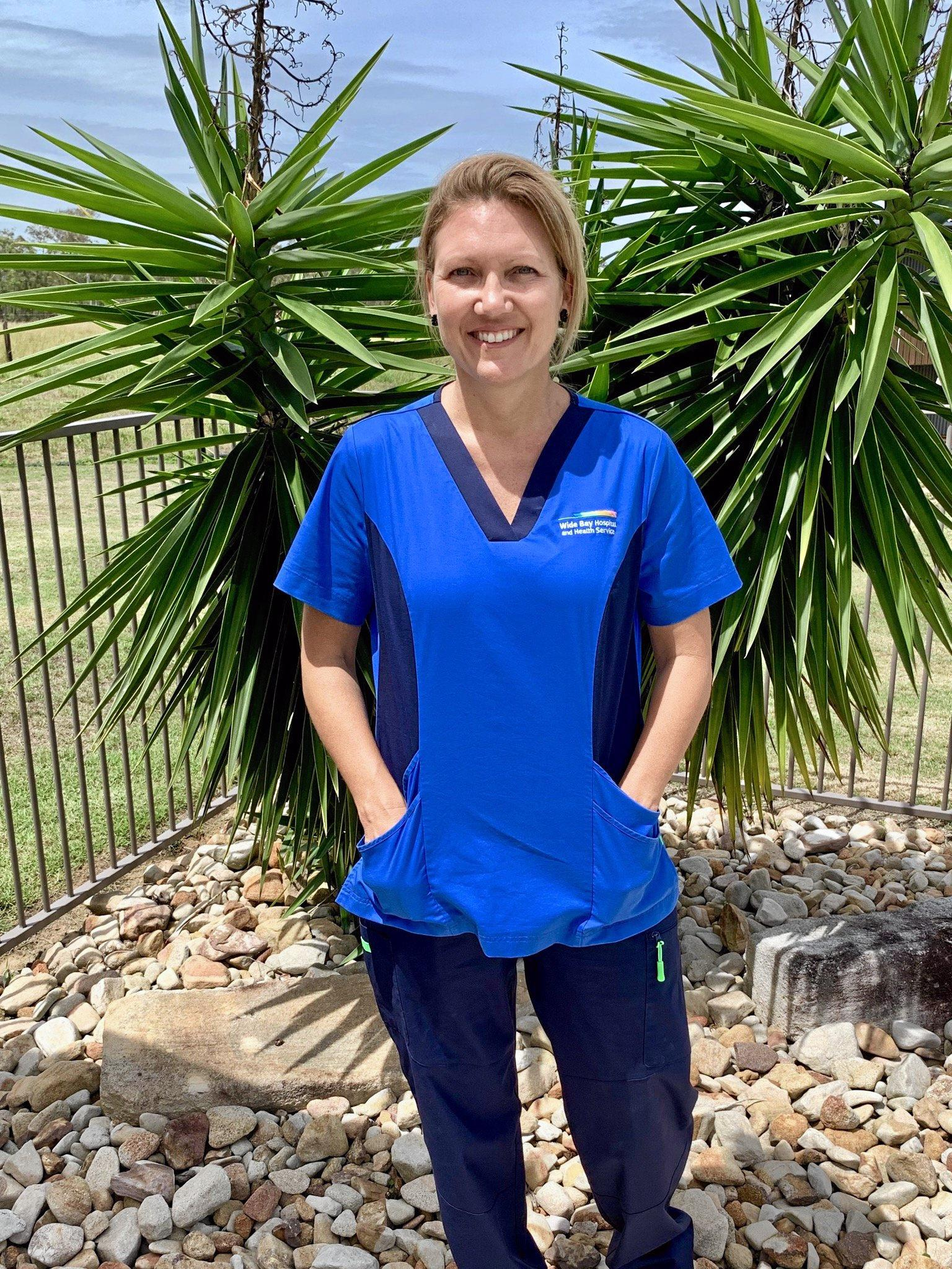 Amanda Christensen works at Hervey Bay Hospital.