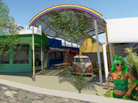 An artist's impression of the Rainbow Lane development application in Cullen St, Nimbin.