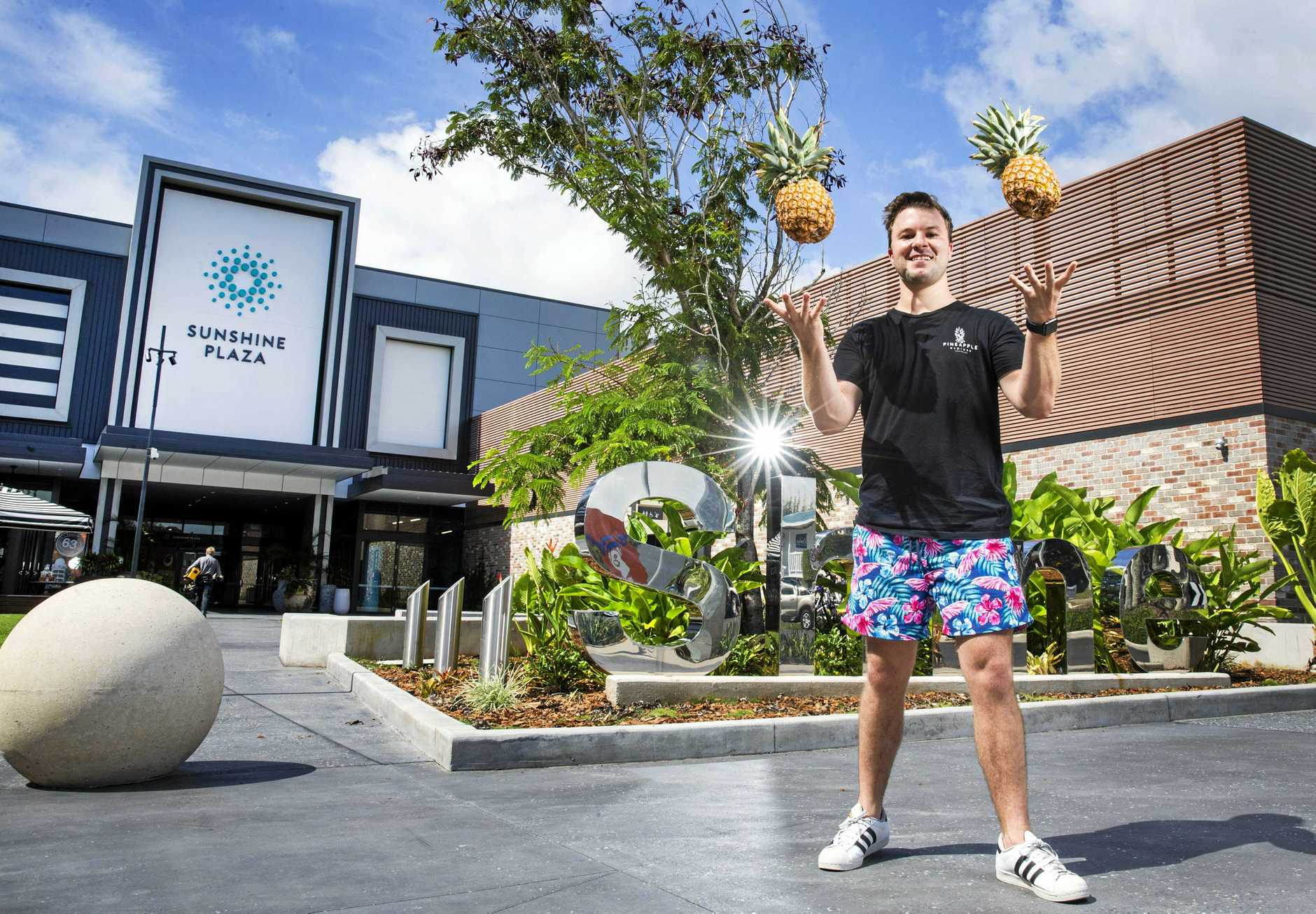 Pineapple Express Owner Tom Sweep is excited to launch their latest store at the new look Sunshine Coast Plaza at Maroochydore. Photo Lachie Millard