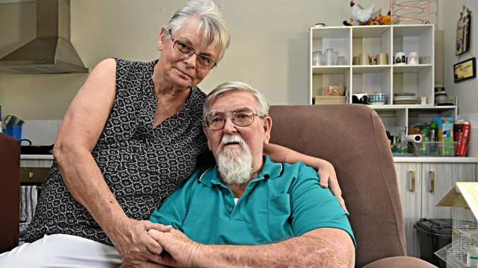 FORTUNATE: Nambour couple Sheryl and Ken Hayes survived a shocking car crash, after being hit by a car running a red light, lucky to escape with their lives. On the mend at home, they want to say huge thanks to the emergency sevices and the hospital.