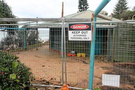 CLOSED: The cafe was run-down before being destroyed by a fire in November last year.