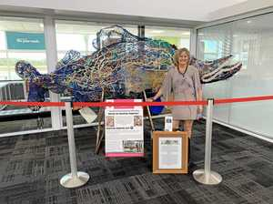 Marine art turning heads at Gladstone airport