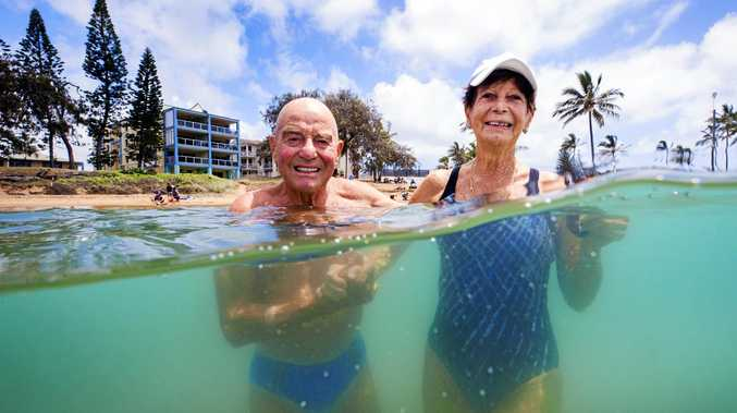 DREAM LOCATION: Retired Plumber Markus Widmer 81, and wife Jannette, retired Nurse 83, enjoy their daily ritual of a morning swim at Bargara.
