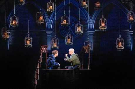 Sean Rees-Wemyss as Albus Potter and William McKenna as Scorpius Malfoy in Harry Potter and the Cursed Child. Supplied by Bridges PR.