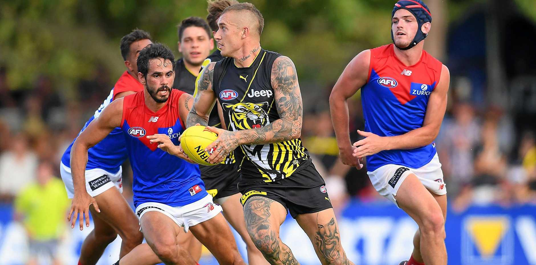 BURSTING: Dustin Martin is part of an impressive line-up at Richmond.