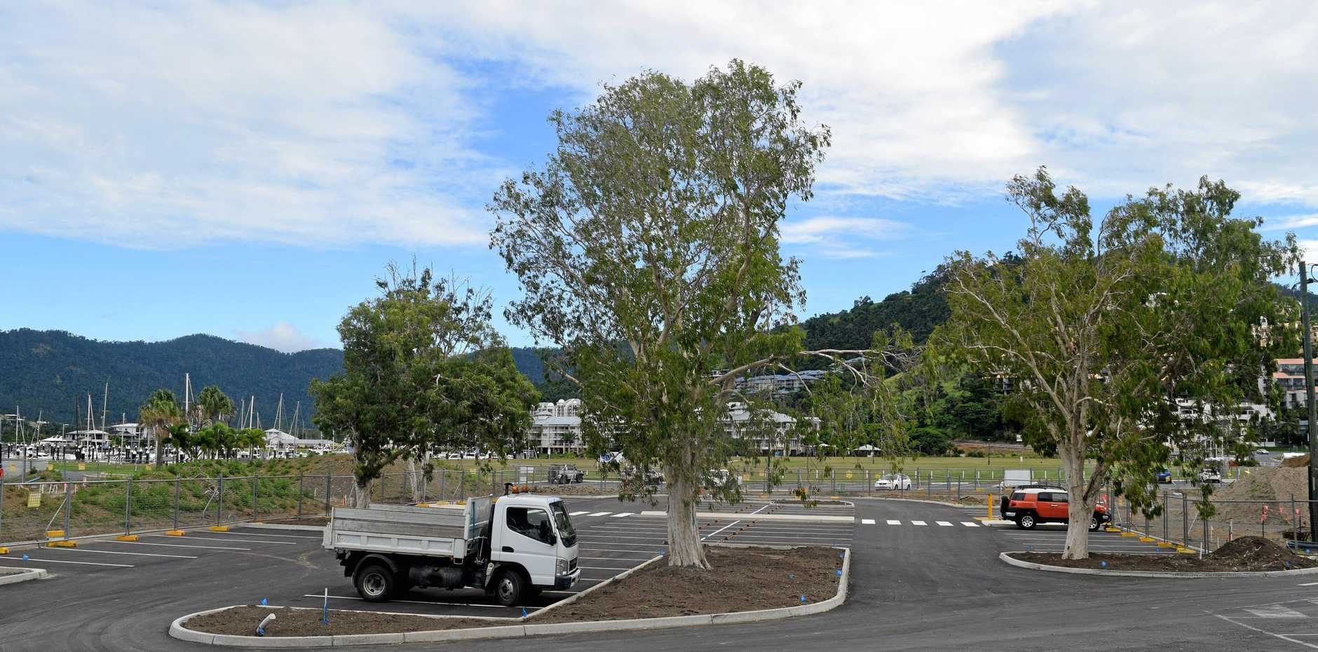 COME ON IN: The Airlie Beach foreshore car park has opened with 57 designated parking spots made available.