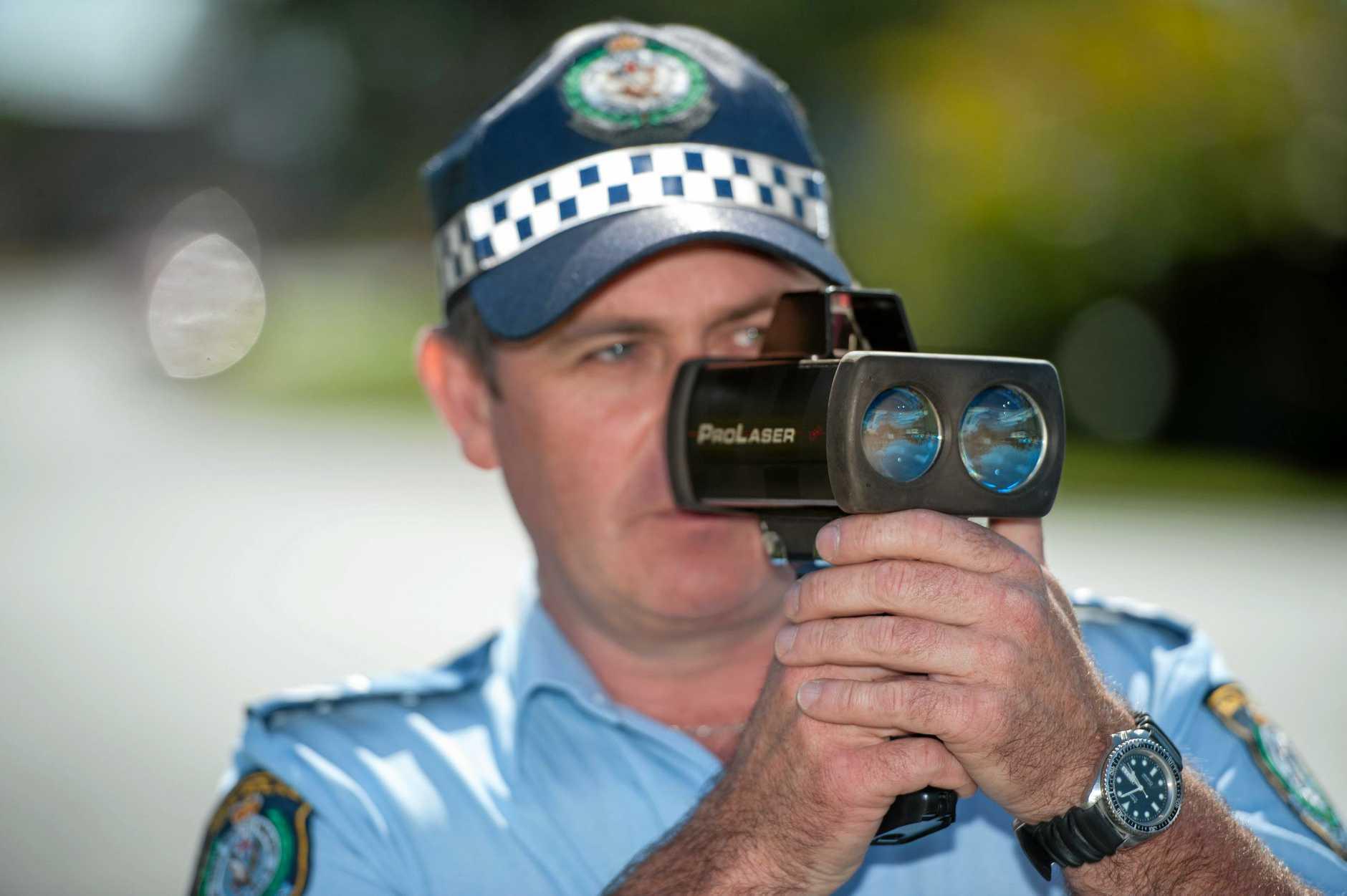 NSW police speed gun, radar.Snr. Const  Mark Whittaker. 07 October 2016