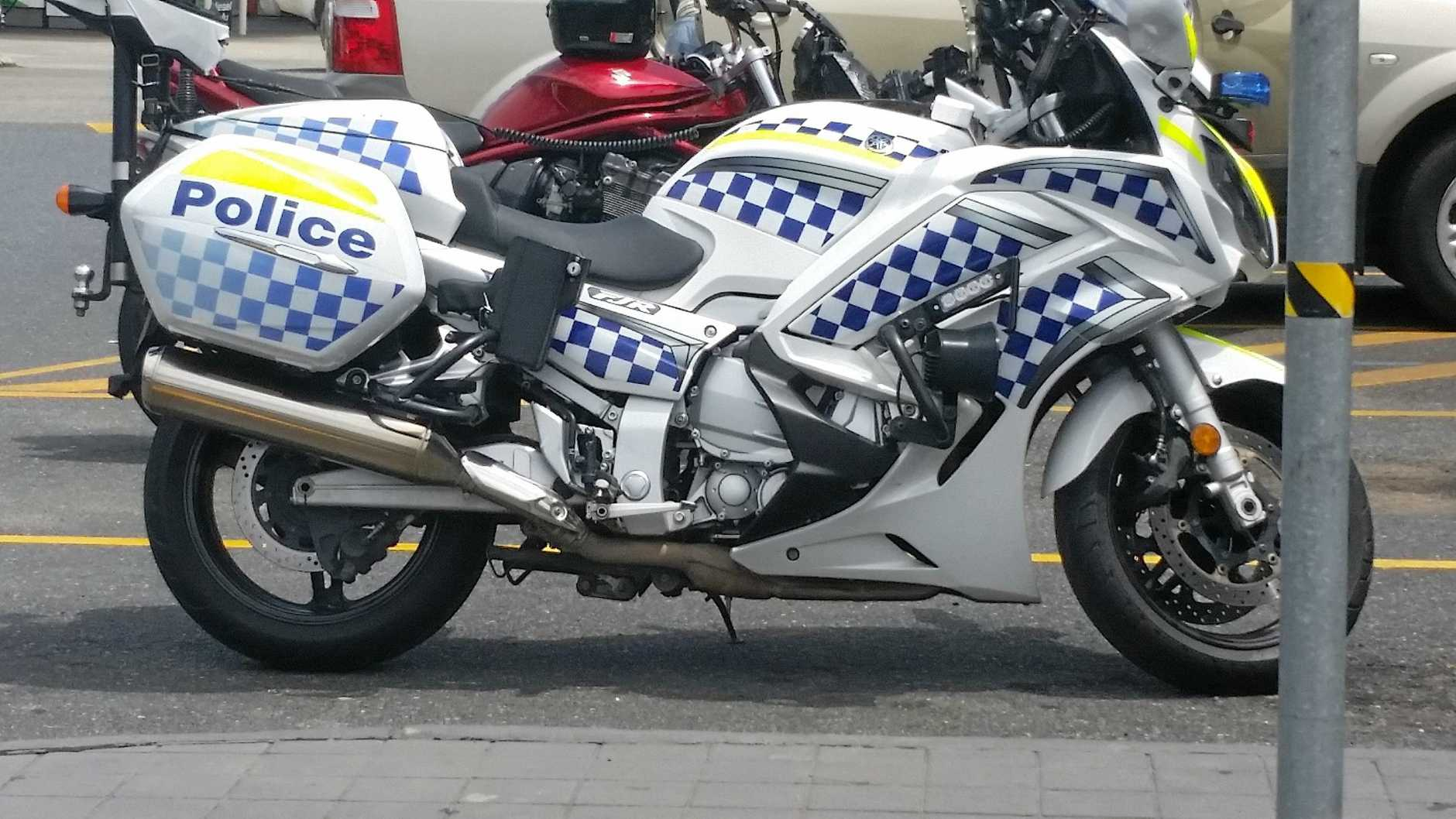 Mark Whittaker's police motorcycle prior to the accident.
