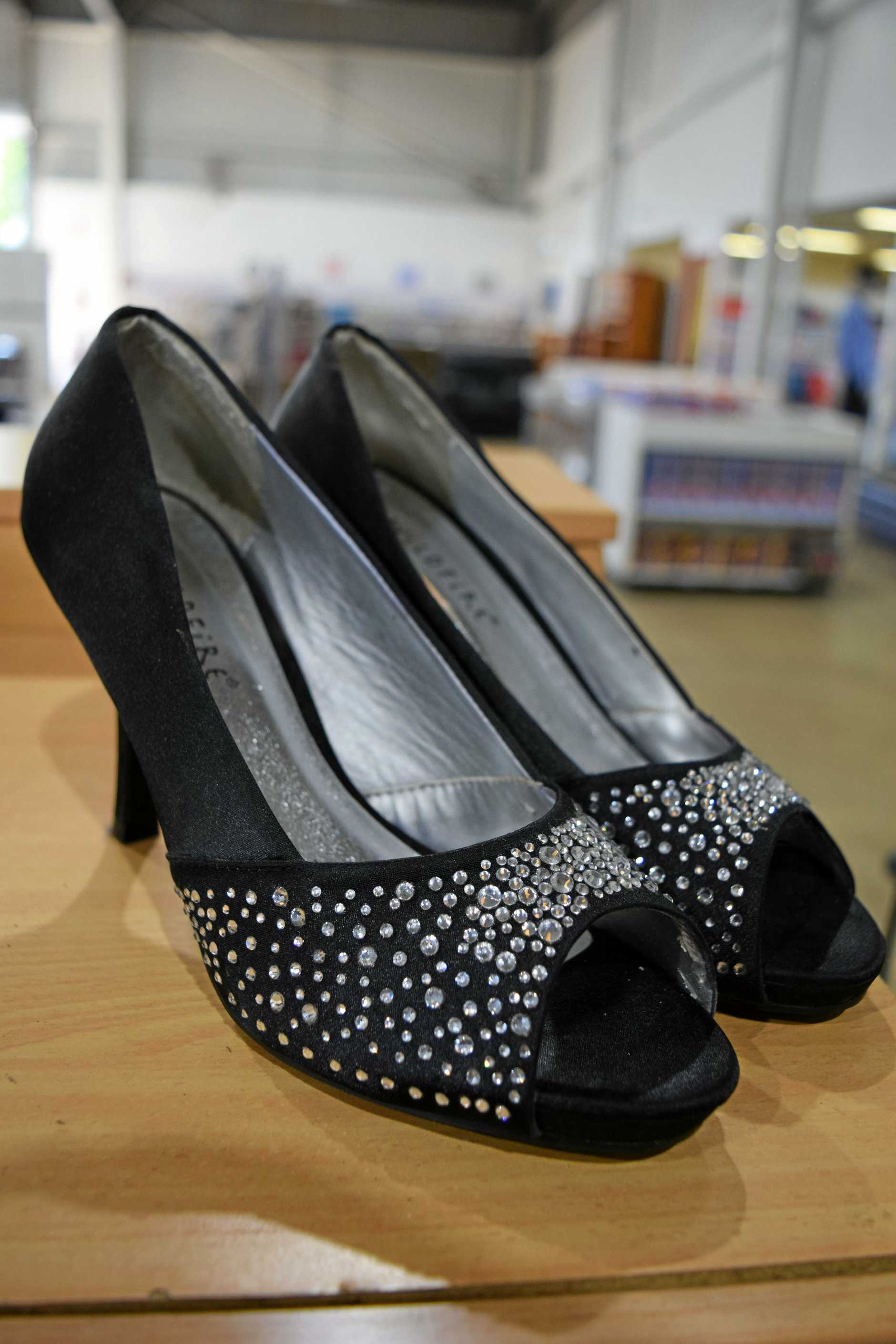 These shoes, currently marked at $3, will be reduced even further at the Salvation Army Family Store's sale on the weekend.