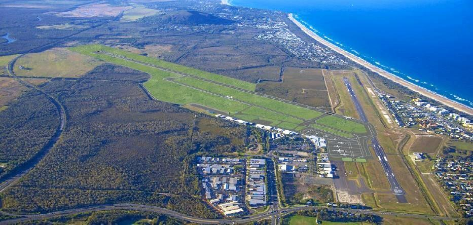 The new design for the Sunshine Coast Airport's second runway.
