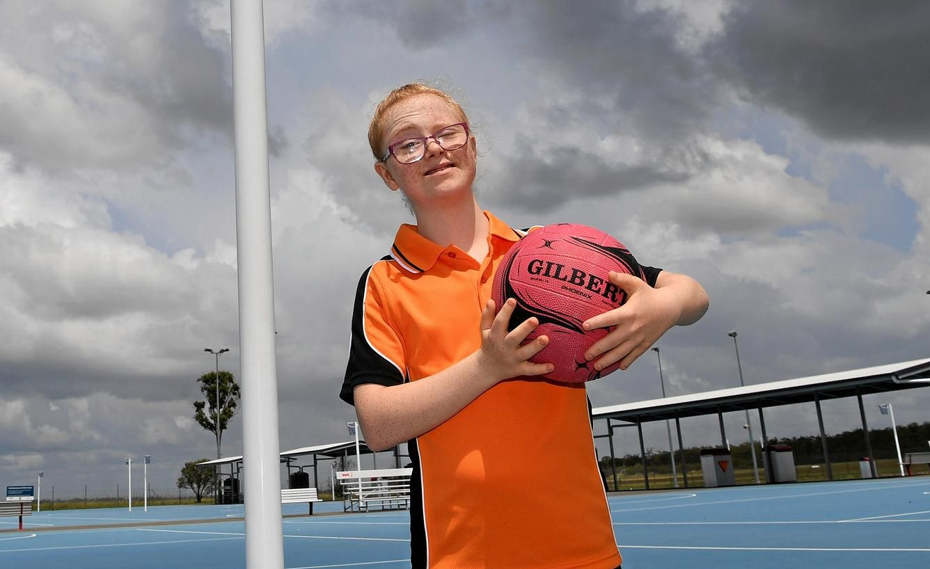 Grace Bailey is loving her time on the netball court.