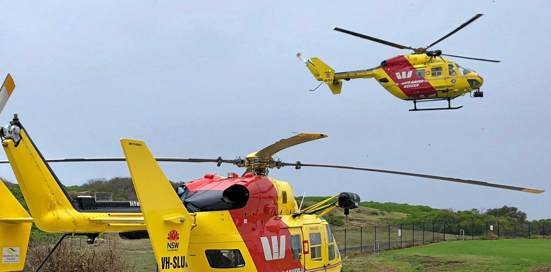 They Sydney and southern NSW Westpac Rescue helicopters have flown 60 missions in northern NSW in 14-months prompting calls for a new Coffs Harbour-based helicopter.