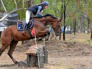 Riders jump well in cross country on a wet Warwick weekend