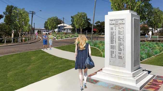 Artist design of Anzac Park in Collinsville.
