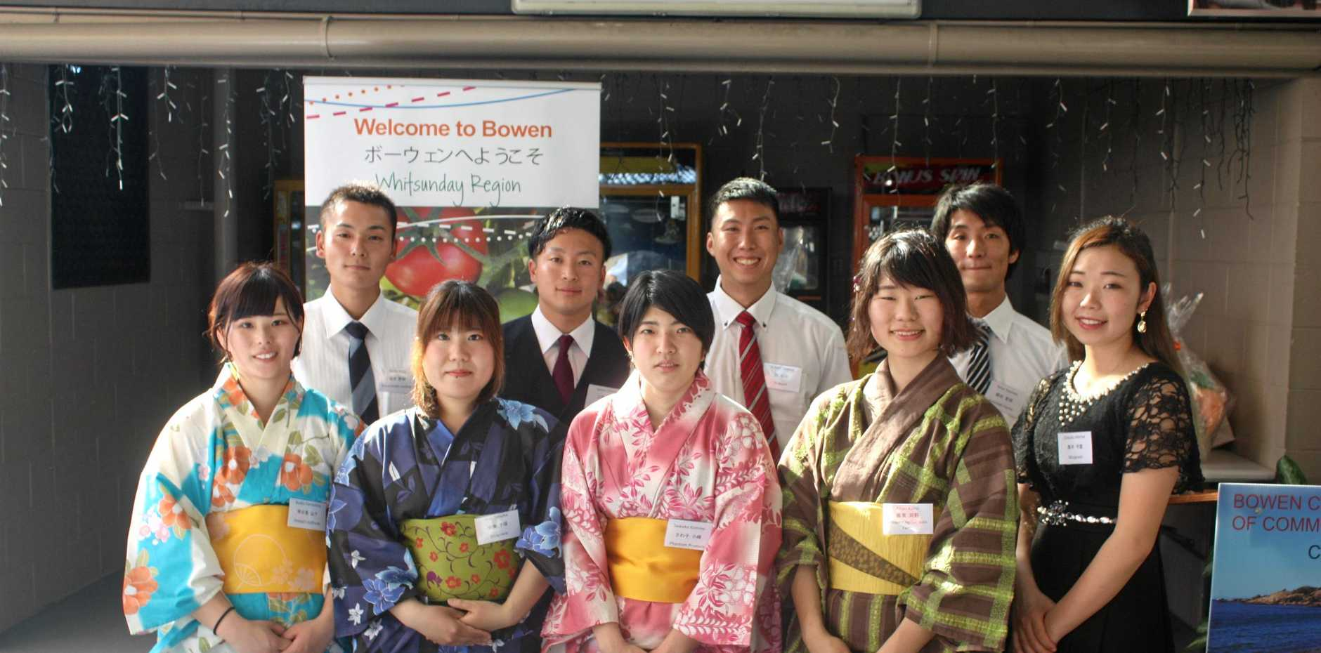 A group of nine Japanese students are in Bowen as part of an agriculture education program.