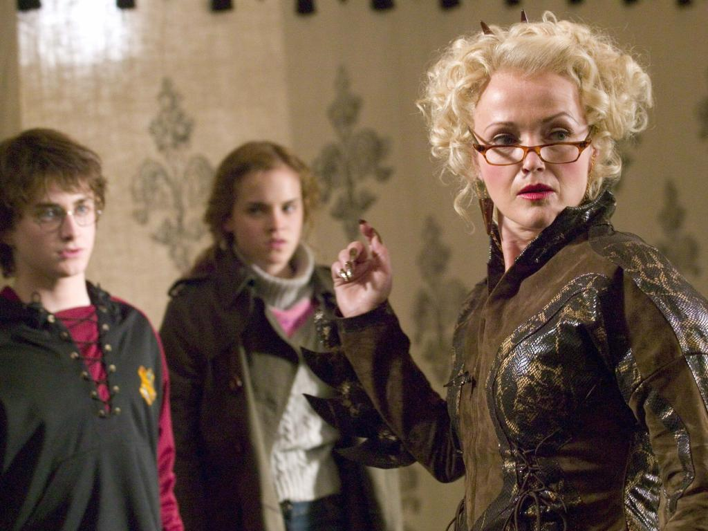Miranda Richardson in scene from Harry Potter and The Goblet of Fire.