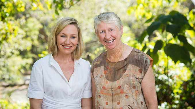 Greens candidate for Bonner Barbara Bell with Senator Larissa Waters.