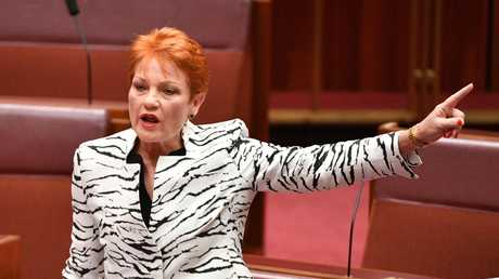 Fraser's old One Nation teammate Pauline Hanson.