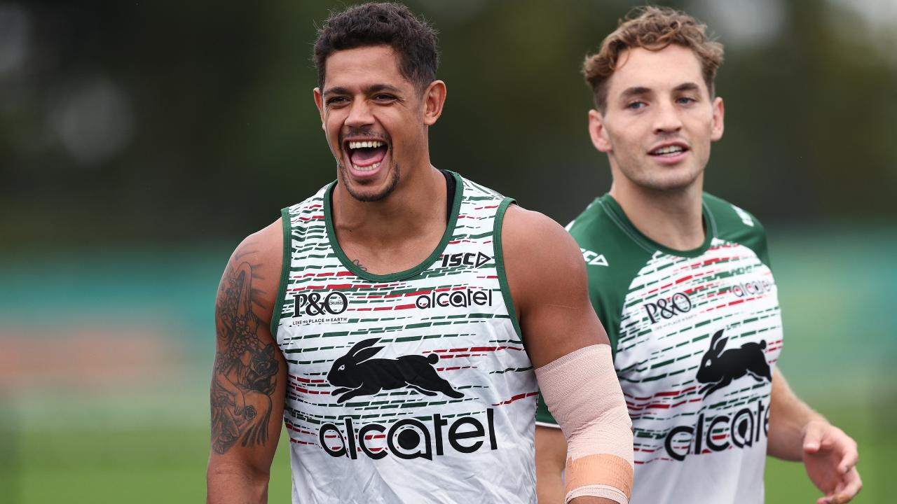 Dane Gagai is happy to start on the wing for the Rabbitohs, but prefers playing in the centres. Picture: Phil Hillyard