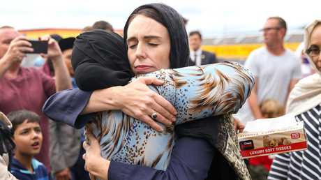 Jacinda Ardern took time to meet with members of New Zealand's Muslim community at the weekend. Picture: Hagen Hopkins/Getty